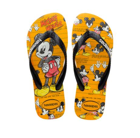 Havaianas Kids 4123500 Disney Mickey Mouse Sandal, White/Black
