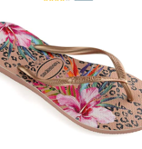 Havaianas Kids 4144235 Kids Slim Animal Floral Sandal, Crocus Rose