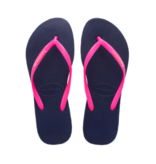 Havaianas Kids 4119787 Kids Slim Logo Pop Up Sandal, Marine/Wonder