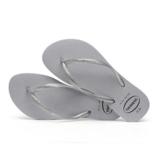 Havaianas Kids 4145617 Kids Slim Gloss Sandal, Ice Grey