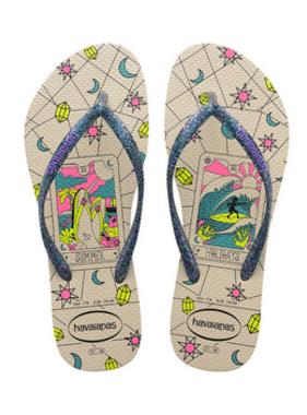 Havaianas Kids 4145650 Kids Slim Mystic Sandal, Beige