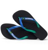 Havaianas Kids 4123206 Kids Brazil Mix Sandal, Black/Blue Star