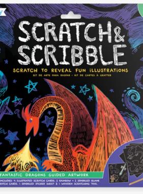 Ooly 161-026 Scratch & Scribble Art Kits: Fantastic Dragons