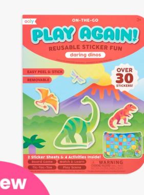 Ooly 172-006 Play Again! Mini Activity Kit-Daring Dinos