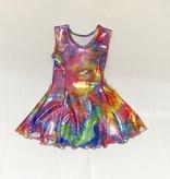 Social Butterfly Fit & Flare Tank Dress, Sparkle Bright Dye