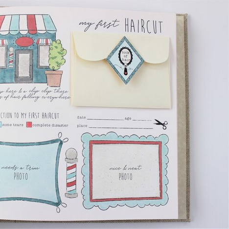 Baby Memory Book Baby Memory Book - Dream Big Little One Pink Stripe