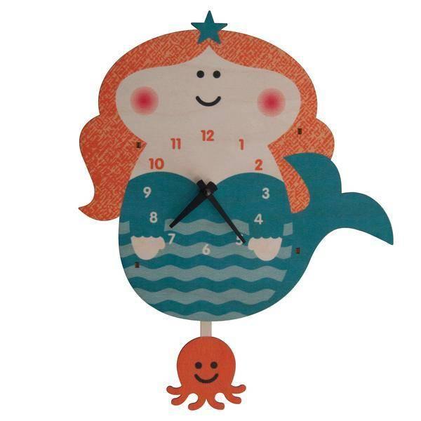 Modern Moose Mermaid Pendulum Clock PCPEN042