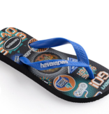 Havaianas Kids Kids Top Holographic Sandal, Black