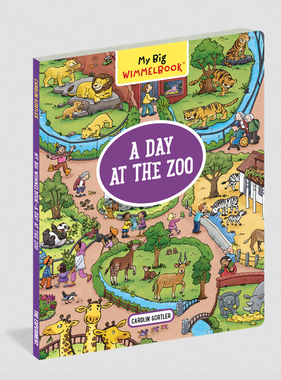 Workman Publishing Co My Big Wimmelbook A Day At The Zoo
