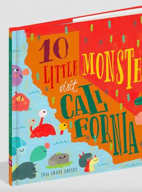 Workman Publishing Co 10 Little Monsters Visit California