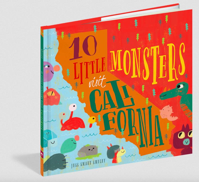 Workman Publishing Co 10 Little Monsters Visit California (F)