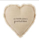 Mudpie GRANDMA HEART PILLOW