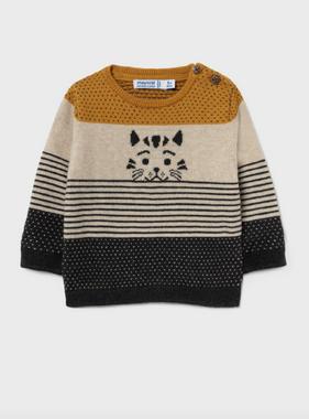 Mayoral 2379 35 Striped Sweater, Ochre