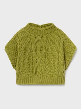 Mayoral 2389 67 Knitting Vest, Olive