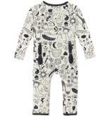 Kickee Pants Print Coverall ZIPPER, Doodles