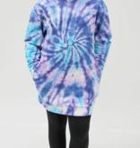 Candy Pink Purple Swirl Hoodie Dress S21342
