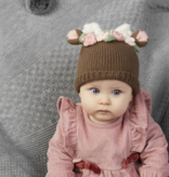 Mudpie Floral Deer Knit Hat