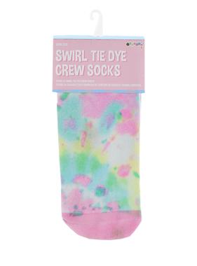 Iscream Swirl Tye Die Crew Socks 820-1512