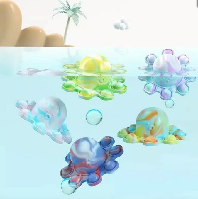 Bubble Pop Fidget MV Flip n Go Octopopper Fidget Keychain