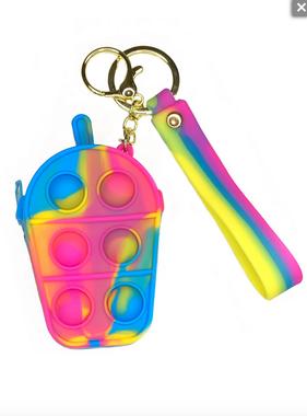 Bubble Pop Fidget MV Boba Tea Wallet/Keychain