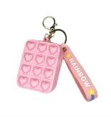 Bubble Pop Fidget MV Fidget Pop Heart Wallet/Keychain