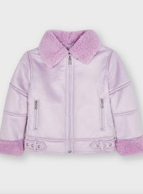 Mayoral 4439 67 Sherling Coat, Lilac