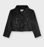Mayoral 4432 37 Leather Jacket, Black