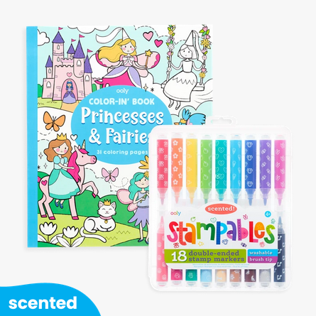 Ooly 191-179 Princess & Fairies Stampables Coloring Gift Pack