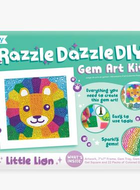 Ooly 161-048 Razzle Dazzle Gem Art Kit: Lil Lion