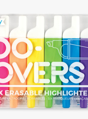 Ooly 130-047 Do-Overs Erasable Highlighters (set of 6)