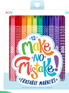 Ooly 130-046 Make No Mistakes Erasable Markers