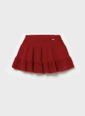 Mayoral 2901 90 Knit Skirt Red