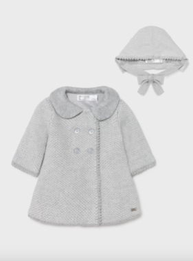 Mayoral 2403 Knitted coat with bonnet