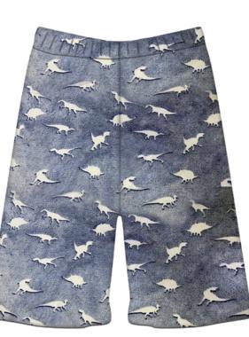 Iscream Dinosaur Tracks Glow Plush Shorts 820-1481