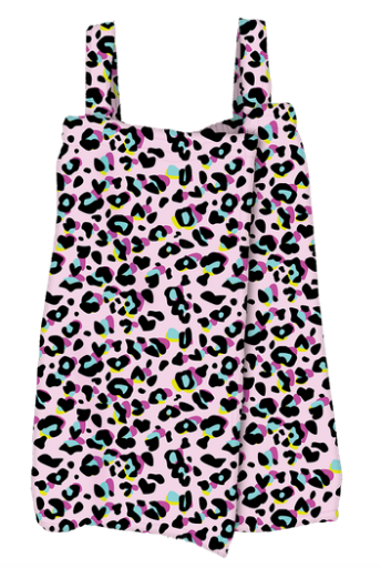 Iscream Pink Leopard Plush Spa Wrap