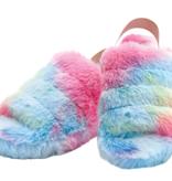 Iscream Rainbow Furry Slippers 735-065