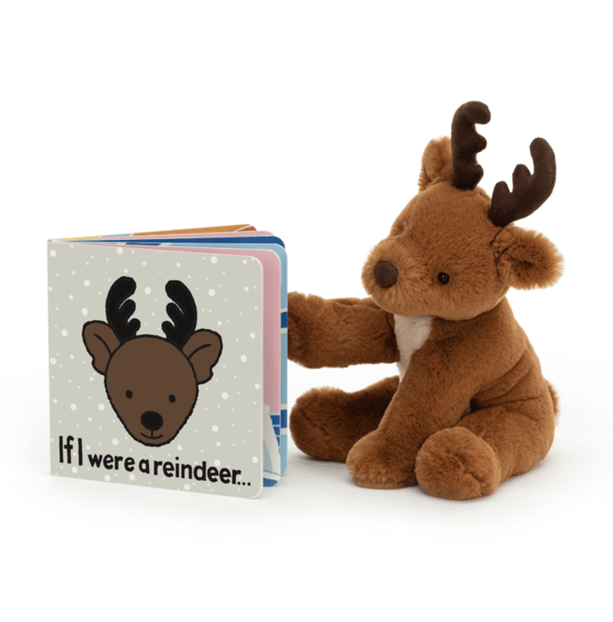 Jellycat If I Were a Reindeer Book BB444RR