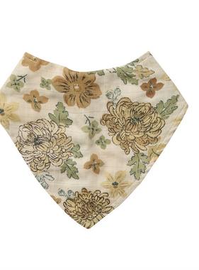 Angel Dear Chrysanthemum Bandana Bib Brown