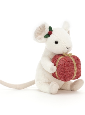 Jellycat PRE ORDER Merry Mouse Present MER3P