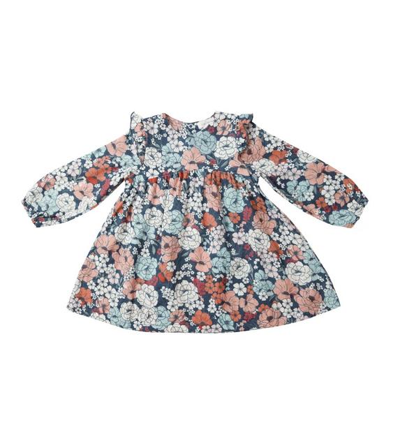 Angel Dear Garden Club Ruffle Dress/Leggings, Blue