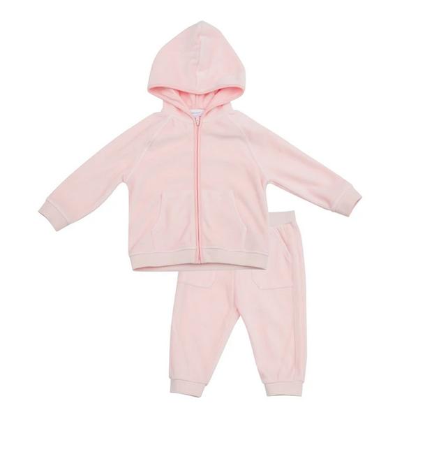 Angel Dear Velour Jogging Suit, Pink