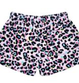 Iscream Pink Leopard Plush Shorts 820-1477S
