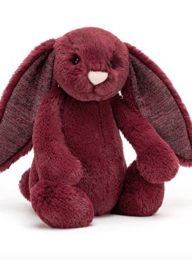 Jellycat Bashful Sparkly Cassis Bunny Medium BAS3SCAS