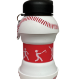 Iscream Baseball Collapsible Water Bottle 870-175]