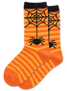 Hot Sox Sox SPIDER STRIPE Socks  Orange