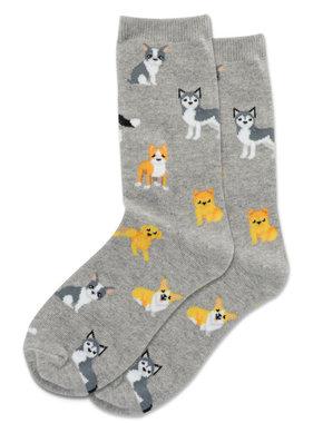 Hot Sox Sox DOGS Socks - Grey