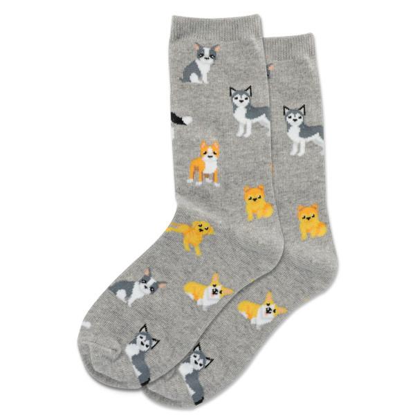 Hot Sox Sox DOGS - Grey