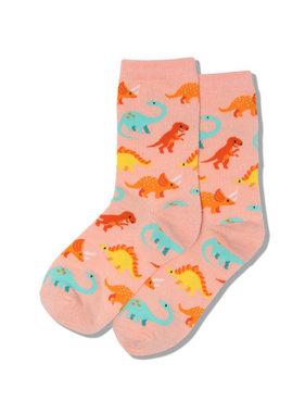 Hot Sox Sox DINOSAURS Socks - Blush