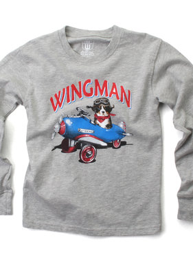 Wes And Willy 7825 Wingman LS Tee Heather