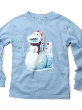 Wes And Willy 7841 Snow Dino LST Tee NC Blue
